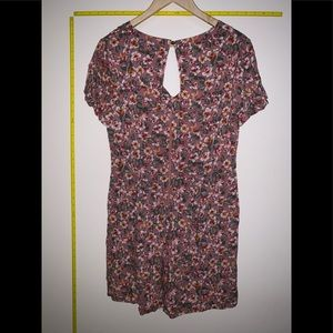 Xhilaration Pants - NWT Floral Print Short Sleeve V-Neck Romper